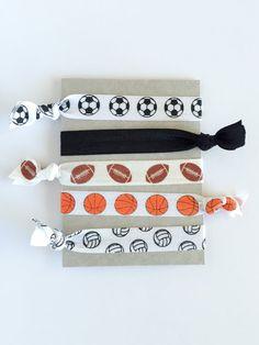 Elastic Hair Ties - set of 5 Elastic Hair Ties, Tie Set, Sunglasses Case, Trending Outfits, Unique Jewelry, Handmade Gifts, Sports, Accessories, Vintage