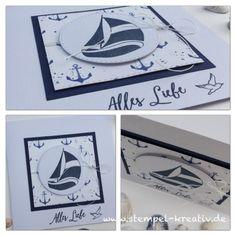 Maritime Glückwunschkarte