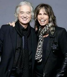 Jimmy Page and Steven Tyler