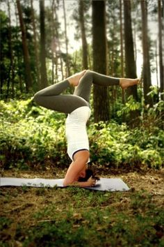 Yoga headstand variation - love it