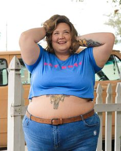 FGF BASICS ARE HERE! A New Line Of Plus Size Tees Up To 6x Best Plus Size Clothing, Plus Size Outfits, Plus Size Fashion, Thick Girl Fashion, Trendy Girl, Ssbbw, Plus Size Bodies, Plus Size Tees, Basic Tees