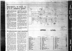 Randall Park Mall upper level directory 8/11/1976