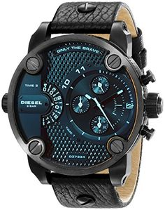 Diesel Men's DZ7334 Little Daddy Black Stainless Steel Watch Diesel