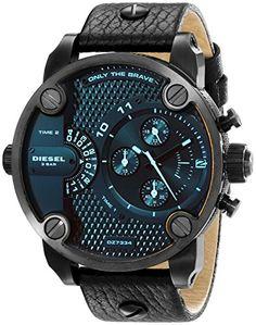 Diesel Men's DZ7334 Little Daddy Black Stainless Steel Watch Diesel