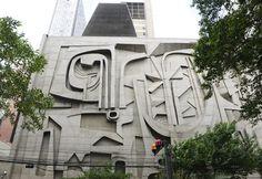 Edifício FIESP, São Paulo, Brasil, Roberto Burle Marx, 1969