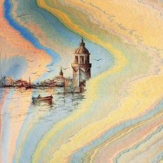 Hikmet Barutçugil Modern Pictures, Pretty Pictures, Water Paper, Ebru Art, Earth Pigments, Water Marbling, Georges Braque, Ottoman, Turkish Art