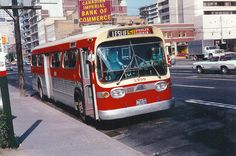 TTC bus in the the same buses I used when I arrived in Toronto in the Train Map, Rome City, Canadian History, Busse, Toronto Canada, Lake Michigan, Public Transport, Old Photos, Night Life