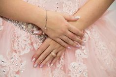 Quinceañera Nails Ideas Jewelry Jewellery Bracelet Pink Dress Photography Photoshoot Sweet Fifteen Quince Ideas