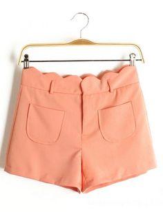scalloped salmon shorts