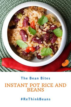 This Instant Pot rice and beans recipe takes the classic red beans and rice and turns it into a quick, one-pot dish. Made with canned kidney beans, it makes a great Cajun-style main course or a perfect side dish for BBQ or roasted meats. Quick Dinner Recipes, Easy Healthy Dinners, Easy Healthy Recipes, Delicious Recipes, Side Dishes For Bbq, One Pot Dishes, Chickpea Recipes, Vegetarian Recipes, Rice And Beans Recipe