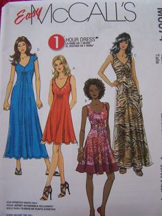 McCall's M6074 Easy Sewing Pattern Misses' 1Hour by WitsEndDesign, $8.00