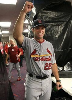 Manager Mike Matheny- having a Well deserved celebration :)) 10-05-12