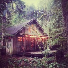 This reminds me of the Bivins' hunting cabin from my contemporary romance, Spectacular Falls.
