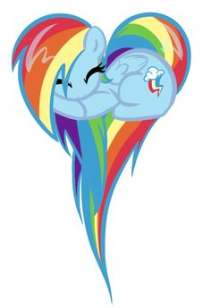 I really think Rainbow Dash is my second favorite (fluttershy being first of course <3)