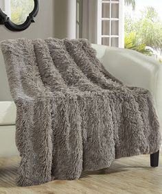 This Taupe Barrow Throw Blanket by Chic Home Design is perfect! #zulilyfinds