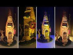 DIY Fairy House Using Glass Bottle, Clay & Cardboard - YouTube