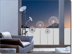 Sichtschutzfolie Moderne Pusteblume   Fenster Folie