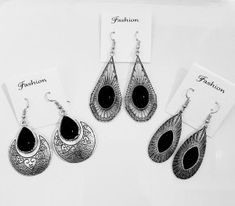 Jewelryclub - Shop from the latest collection of Earrings for women & girls online. Buy studs, ear cuff, drop & more Earrings at best price, COD. Metal Jewelry, Jewelry Art, Silver Jewelry, Oxidized Silver, Antique Silver, Buy Jewellery Online, Women's Earrings, Black Metal, Buy 1