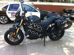 Brammo LAPD Empulse R electric police motorcycle.