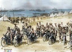 World War I in Photos: Introduction - The Atlantic 20 British soldiers on motorcycles in the Dardanelles, part of the Ottoman Empire, prior to the Battle of Gallipoli. Wilhelm Ii, Kaiser Wilhelm, World War One, First World, Empire Wallpaper, Gallipoli Campaign, Empire Ottoman, Royal Engineers, British Soldier