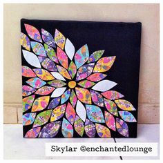 Simple Art Projects   On the first week, i did this! DIY Weekend Project Tutorial : Flower ...