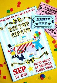 Circus Party Invites  #socialcircus