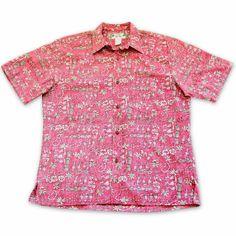 Waikiki Red Hawaiian Reverse Shirt