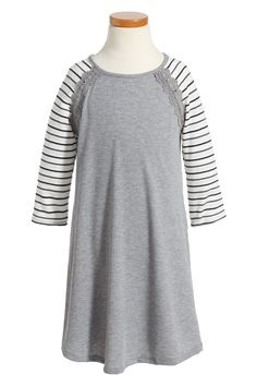 Baseball T-Shirt Dress (Big Girls)