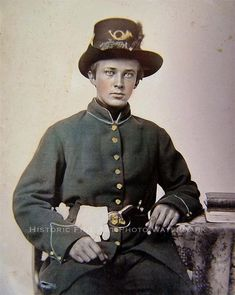 CIVIL WAR ANTIQUE PHOTO UNION SOLDIER PLUMMED HARDEE HAT PISTOL 1865  #20866
