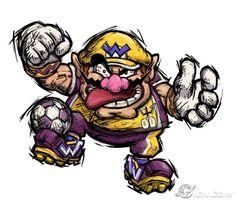 PIPOCA COM BACOB - Games: Mario Strikers Charged – O futebol apelão da Nintendo  - super-mario-strikers-wario - #PipocaComBacon