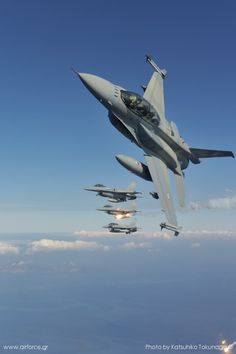 LOVE F-16's   I could watch these all day! When Allen was in the Air Force he worked on the 'black boxes' and we lived in the 'fly zone' and I have never tired of that sound! Allen is now retired after 20 yrs. service and we have a deep love for the USAF!!!