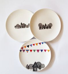 Composition of 3 wall plates
