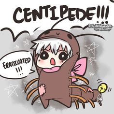 I never usually find chibis cute, but come on! (Little centipede Kaneki - Tokyo Ghoul)
