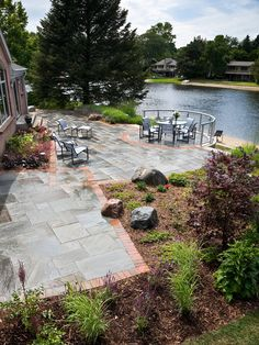 "Lakeside Landscaping Design.  Given that the ""village"" has dug up my yard, perhaps something like this to replace the grass????"