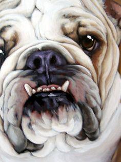 "bulldog painting Beautiful blending of colors means I can ""feel"" his silky fur! Bulldogge Tattoo, Bulldog Drawing, Terriers, Cute Bulldogs, Dog Artwork, Bulldog Puppies, Bulldog Mascot, Watercolor Animals, Dog Portraits"
