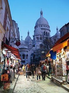 Wanna high quality designer handbags? Click here!  Little street leading up to Sacre Coeur, Paris