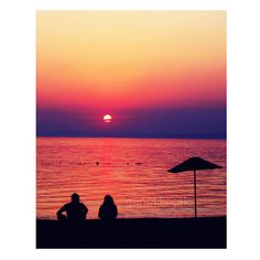 Wall Decor, Love decor, Silhouette, beach, sunset photography, gift ideas, color, Art Print, home decor, Prints Posters, 8x12 inch, ($30) found on Polyvore featuring home, home decor, wall art, beach poster, silhouette wall art, beach scene posters, beach home decor and photography posters