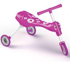 Scuttlebug Fleur in Pink - Toddler Folding Trike Green Zebra, Pink And Green, Pink White, Hot Pink, Little Ones, Little Girls, Free Samples Uk, Shops, Sports Toys