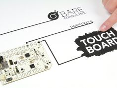 Use The Touch Board to change the world around you by turning almost any material or surface into a sensor. Using the studio, Bare Conuctive's electrically conductive paint, this is an easy-to-use platform for a huge range of projects, whether it's painting a light switch on your wall or making a paper piano.