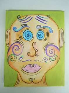 Pop Abstract Face Acrylic Painting on Etsy Abstract Faces, Pop, Handmade Gifts, Painting, Vintage, Etsy, Kid Craft Gifts, Popular, Pop Music