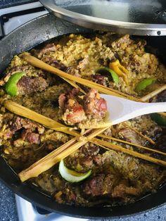 Indonesian Fried Rice Recipe, Rice Recipes, Meat, Food, Cilantro, Essen, Meals, Yemek, Eten
