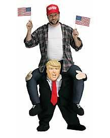 The Ride-On Trump Halloween Costume! Feel like Trump this Halloween! Halloween is the most loved and most awaited event and people love doing different. Trump Halloween Costume, Couple Halloween, Spirit Halloween, Mr President, New Wall, Adult Costumes, Presidents, Hilarious, Political Party