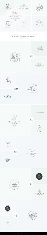 Feminine Geometric Logo Bundle Vol.1 by Maggie Molloy on @creativemarket