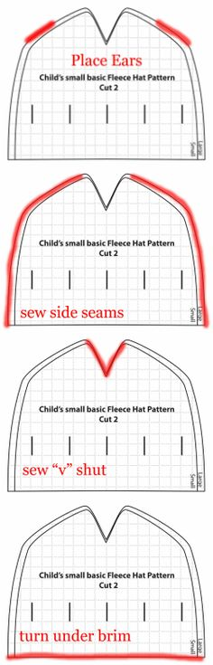 pattern for fleece hat...reindeer for Christmas?