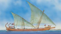 By the 10th century, there were three main classes of bireme warships of the…