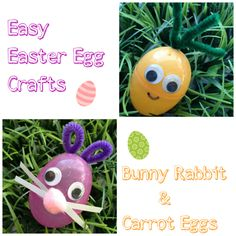 Who knew that you could turn simple, plastic Easter eggs into such adorable critters? If you have a few plastic eggs on hand and a few simple supplies, you can make your own Easter egg critters in no time. These Easter egg critters are so fun for little hands to create and easy for your budget to enjoy. Take a look below at how you can make your own, just in time for Easter! - Easter Egg Critters: Bunny & Carrot Easter Eggs #Easter #EasterCraft #EasterEgg #EasterCritters