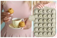 Financiers med vanilje - Passion For baking Mini Tea Cake Recipe, Basic Sweet Dough Recipe, Mini Desserts, Delicious Desserts, Cake & Co, Drop Cookies, Types Of Buns, French Vanilla, Tea Cakes