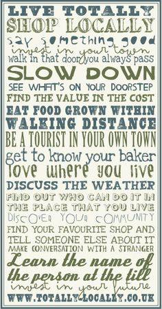 Totally Locally - More than a shop local campaign