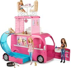 Buy Barbie Pop-Up Camper Vehicle Play Toy Fun Game Kids Girls Car Van Travel Camper at online store Barbie Camper Van, Camping Car Barbie, Mattel Barbie, Barbie Van, Barbie Doll Car, Barbie Dream, Poney Crochet, Poupées Our Generation, Barbie And Her Sisters
