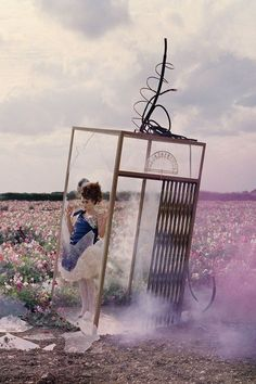 Perfect combination:  Helena Bonham Carter  photographed by Tim Walker  wearing Alexander McQueen